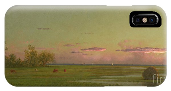 Bucolic iPhone Case - Salt Marsh At Southport, Connecticut by Martin Johnson Heade