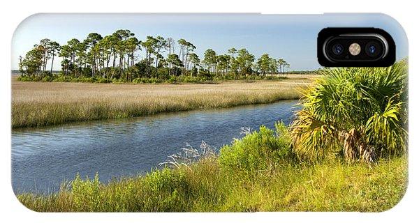 Wakulla iPhone Case - Salt Water Marsh by Inga Spence