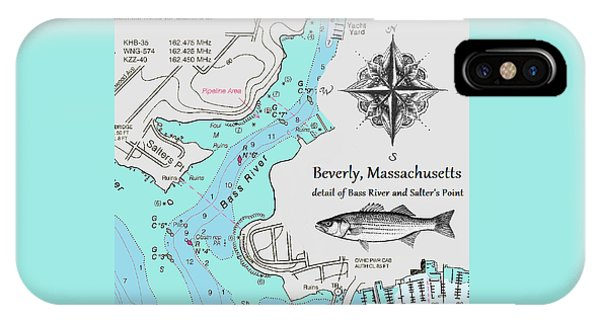 Salter's Point Map IPhone Case