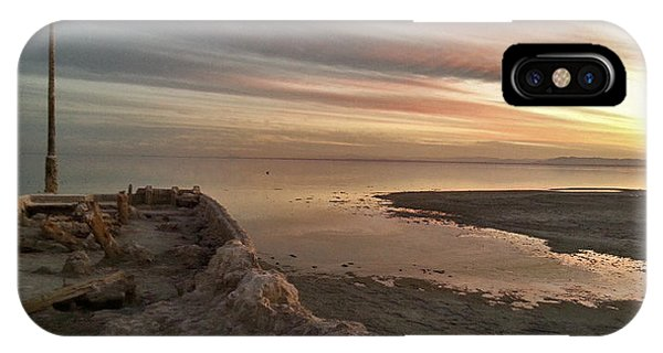 iPhone Case - Salton Sea Sunset by April Bielefeldt