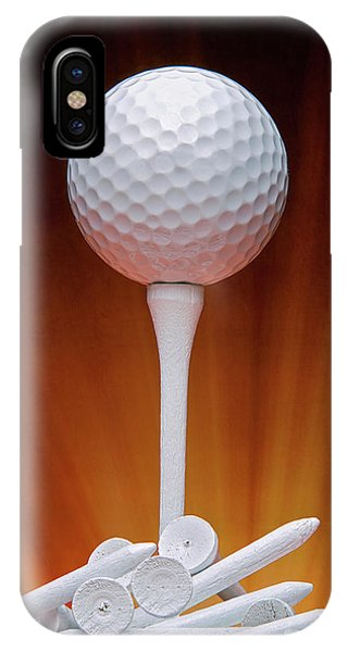 Golf Ball iPhone Case - Salute To Golf by Tom Mc Nemar