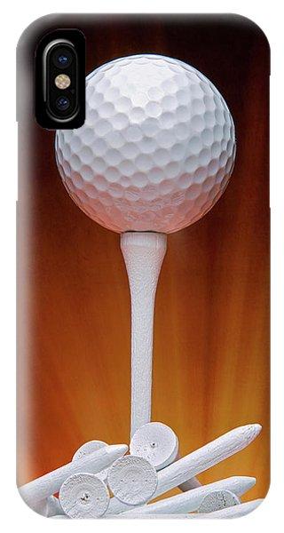 Closeup iPhone Case - Salute To Golf by Tom Mc Nemar