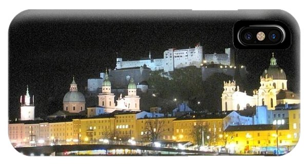 Salzburg At Night IPhone Case