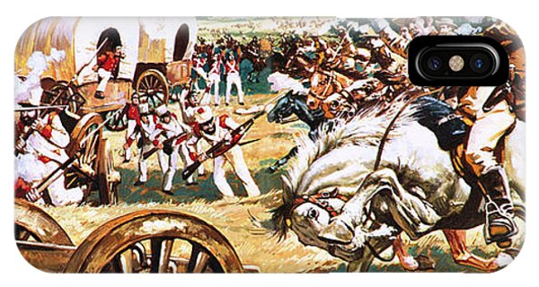 The Alamo iPhone Case - Sam Houston On A White Horse Charging The Mexicans by CL Doughty
