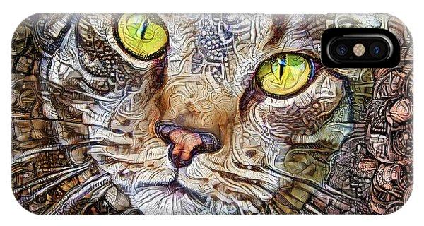 Sam The Tabby Cat IPhone Case