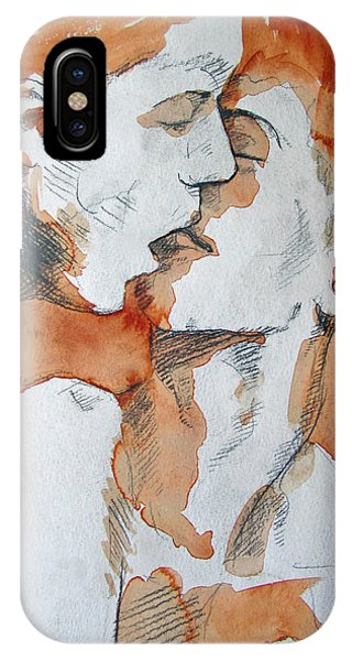 IPhone Case featuring the painting Same Love by Rene Capone
