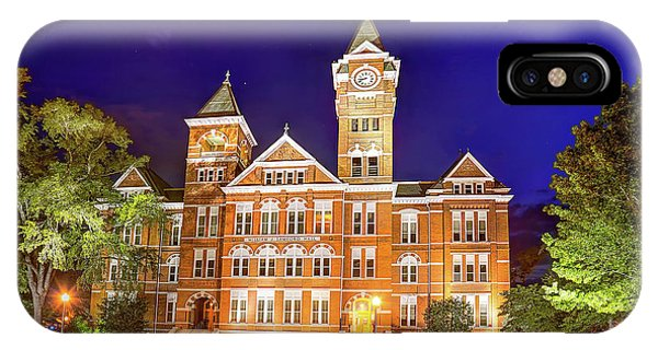 Samford Hall At Night IPhone Case