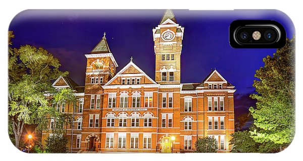 Samford Hall At Night IPhone Case