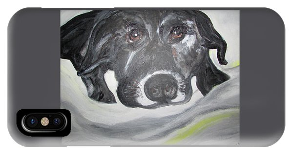 Sweet Sami Black Lab IPhone Case