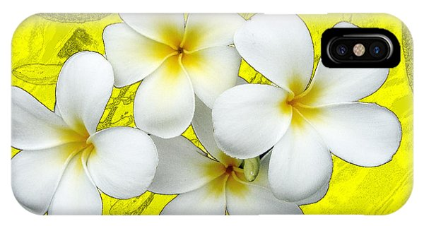 Samoan Frangrapani IPhone Case