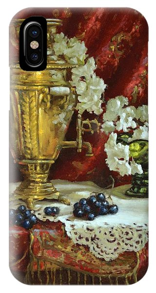 Samovar And Cherry Blossoms IPhone Case