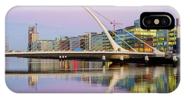 Samuel Beckett Bridge At Dusk IPhone Case
