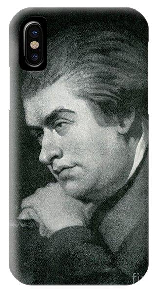 Deep Thought iPhone Case - Samuel Johnson  Portrait by George Zobel