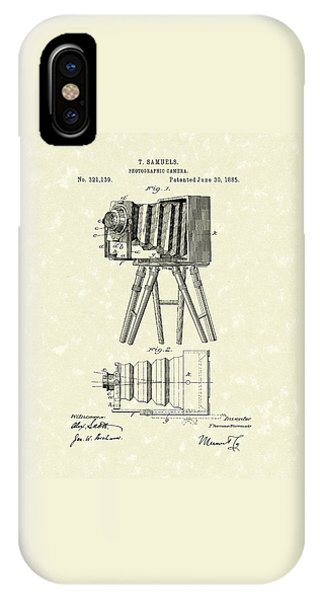Samuels Photographic Camera 1885 Patent Art IPhone Case
