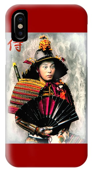 Samurai 1898 With Iron Fan IPhone Case