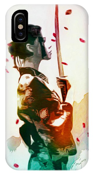 Samurai Girl - Watercolor Painting IPhone Case