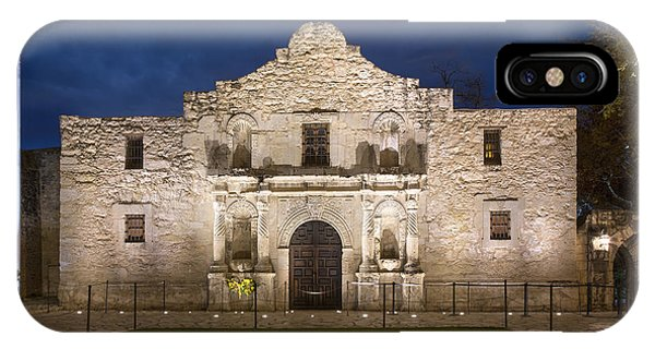 The Alamo iPhone Case - San Antonio Alamo Before Sunrise 3 by Rob Greebon