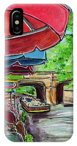 San Antonio River Walk Cafe IPhone Case
