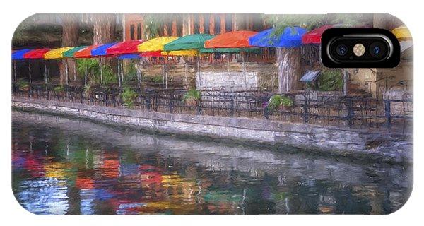 Umbrella Pine iPhone Case - San Antonio Riverwalk Colors by Joan Carroll