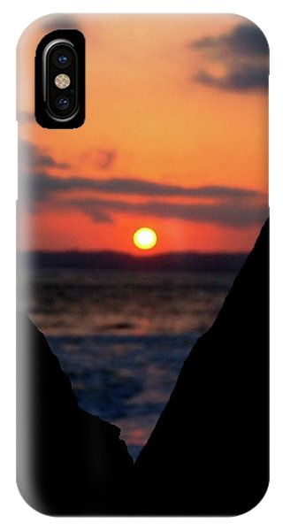 San Clemente Beach Rock View Sunset Portrait IPhone Case
