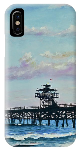 IPhone Case featuring the painting San Clemente Evening by Mary Scott