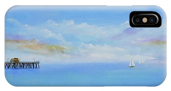 IPhone Case featuring the painting San Clemente Sail by Mary Scott