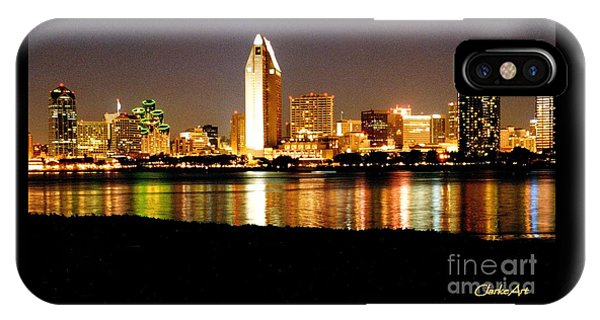 San Diego Skyline With Reflections On Mission Bay IPhone Case