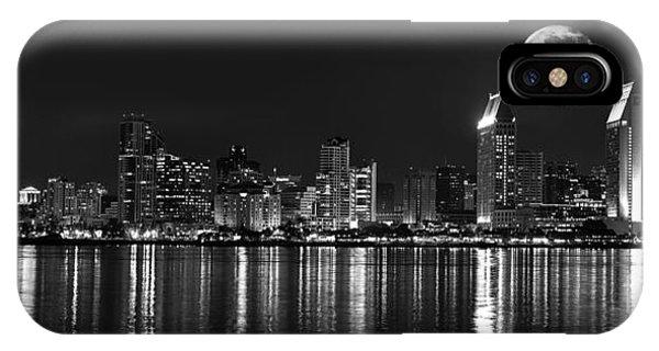 Coronado iPhone Case - San Diego Full Moon Panorama by Art K