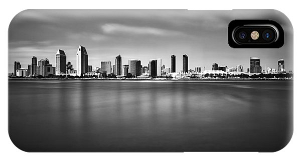 San Diego Skyline - Black And White IPhone Case