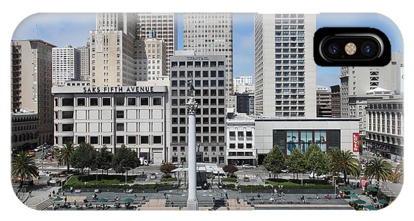 Wingsdomain iPhone Case - San Francisco . Union Square . 5d17938 by Wingsdomain Art and Photography