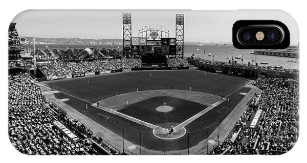 San Francisco Ballpark Bw IPhone Case