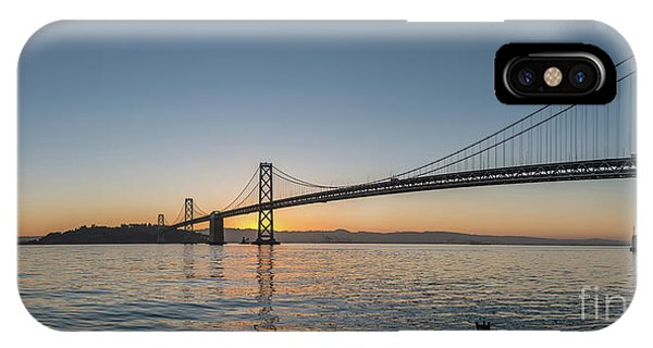 San Francisco Bay Brdige Just Before Sunrise IPhone Case