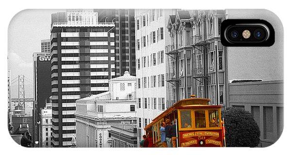 San Francisco Cable Car - Highlight Photo IPhone Case