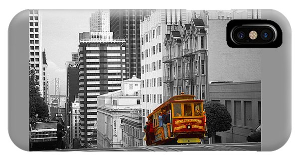 San Francisco - Red Cable Car IPhone Case