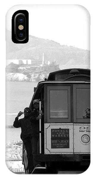 San Francisco Cable Car With Alcatraz IPhone Case