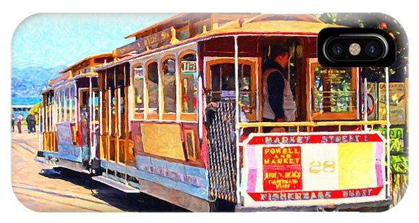 San Francisco Cablecar At Fishermans Wharf . 7d14097 IPhone Case
