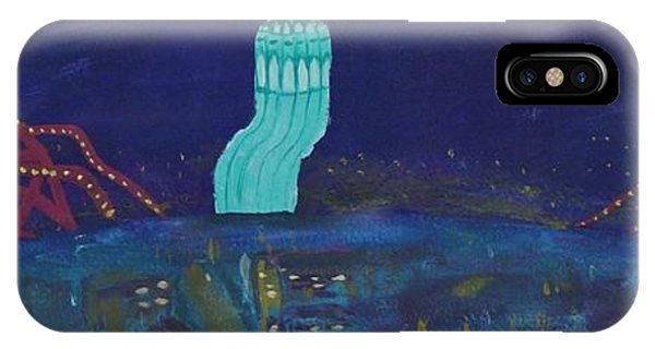 San Francisco Coit Tower Abstract IPhone Case
