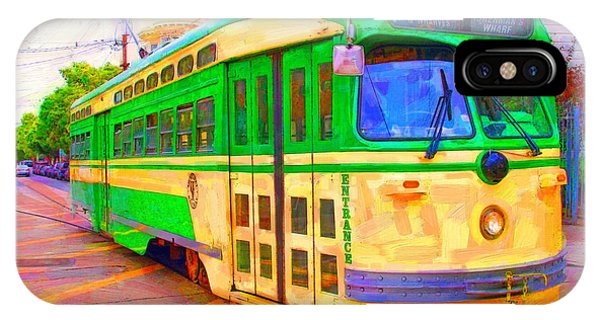 San Francisco F-line Trolley IPhone Case