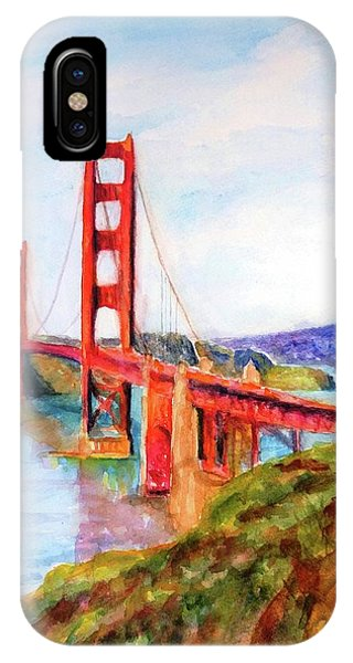 San Francisco Golden Gate Bridge Impressionism IPhone Case