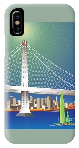 San Francisco New Oakland Bay Bridge Cityscape IPhone Case