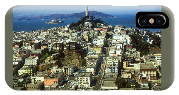 San Francisco - Telegraph Hill And Alcatraz IPhone Case