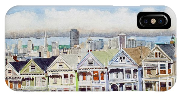 San Francisco's Painted Ladies IPhone Case