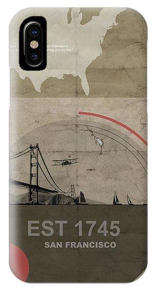 Golden Gate Bridge iPhone Case - San Fransisco by Naxart Studio