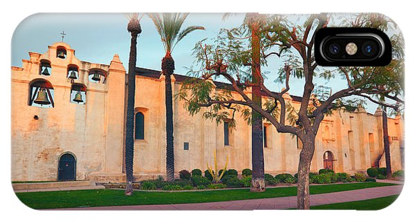 San Gabriel Mission iPhone Case - San Gabriel Mission California by Ram Vasudev