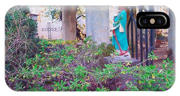 San Gabriel Mission iPhone Case - San Gabriel Mission California - Virgin Mary by Ram Vasudev