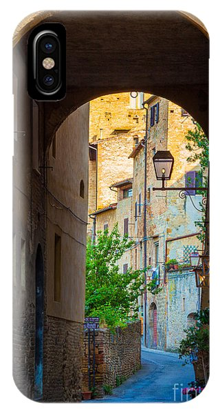 San Gimignano Archway IPhone Case