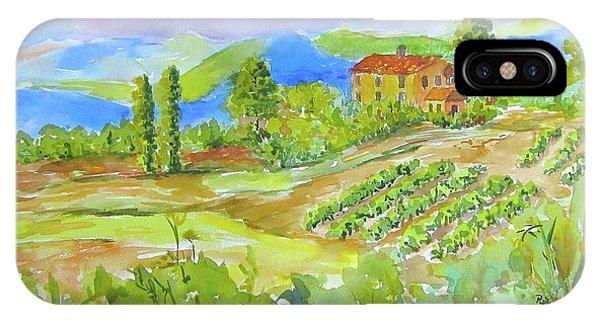 Vineyard At San Gimignano IPhone Case