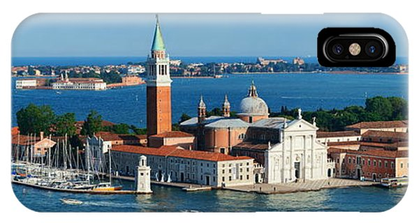 IPhone Case featuring the photograph San Giorgio Maggiore Island Panorama by Songquan Deng