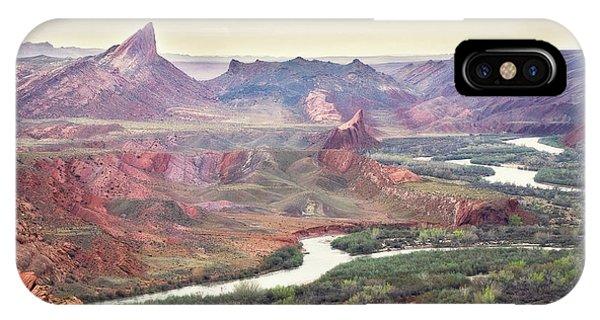 San Juan River And Mule's Ear IPhone Case