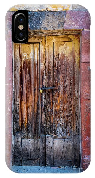 Guanajuato iPhone Case - San Miguel Old Door by Inge Johnsson